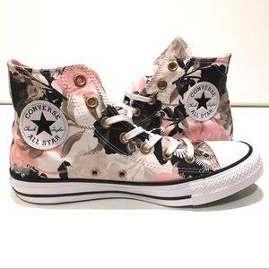 Converse CTAS Hi Floral Shoes Pink/white high top